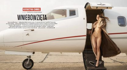 Playboy's July 2016 playmate in a photo session on board Call&Fly aircraft!
