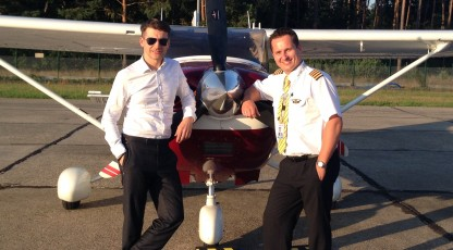 Tomasz Kammel flew from Warsaw to Nowy Targ and Szczecin in just one day!